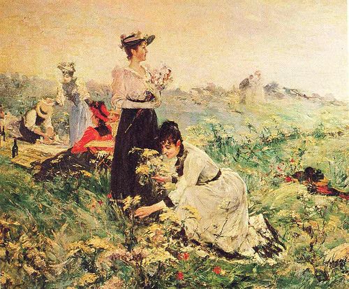 By Juan Luna. (Photo credit: http://commons.wikimedia.org/wiki/File:Picnic_in_Normandy_by_Juan_Luna.jpg)