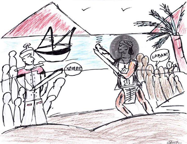 I drew this during Art class. Sadly, I failed to depict the Battle of Mactan.